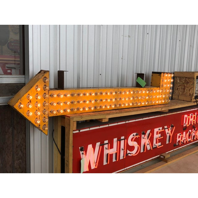 1930's double sided light up arrow sign. In working condition