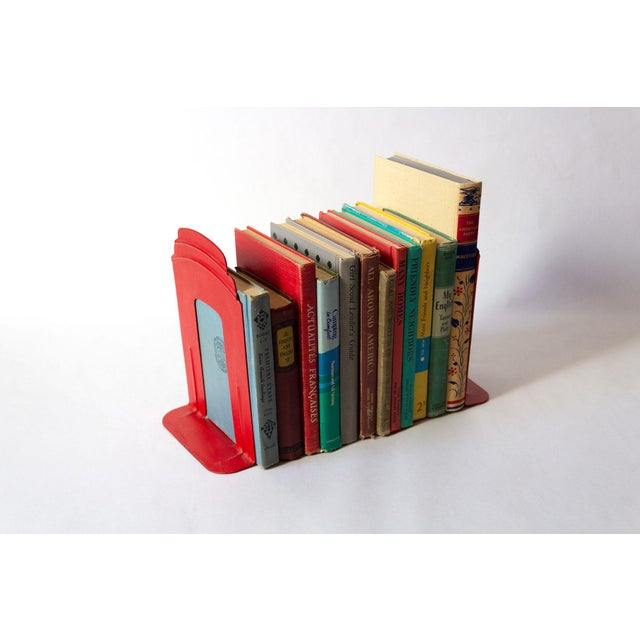 Vintage Red Library Bookends - a Pair For Sale In Dallas - Image 6 of 9