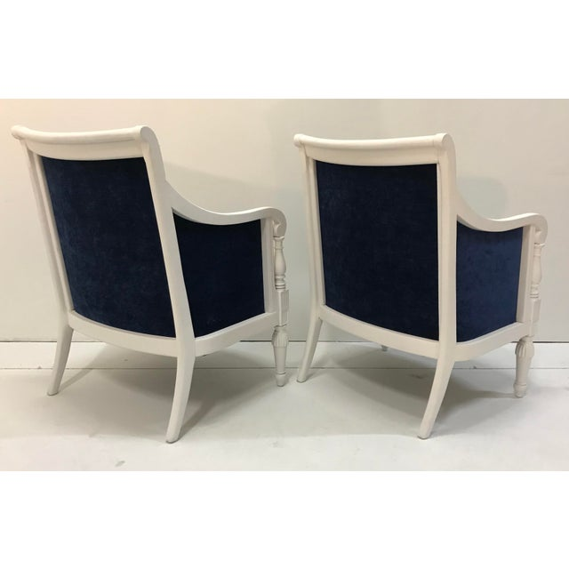 1970s 20th Century Chairs Floral Pattern Cottage Style Painted Frames - a Pair For Sale - Image 5 of 9