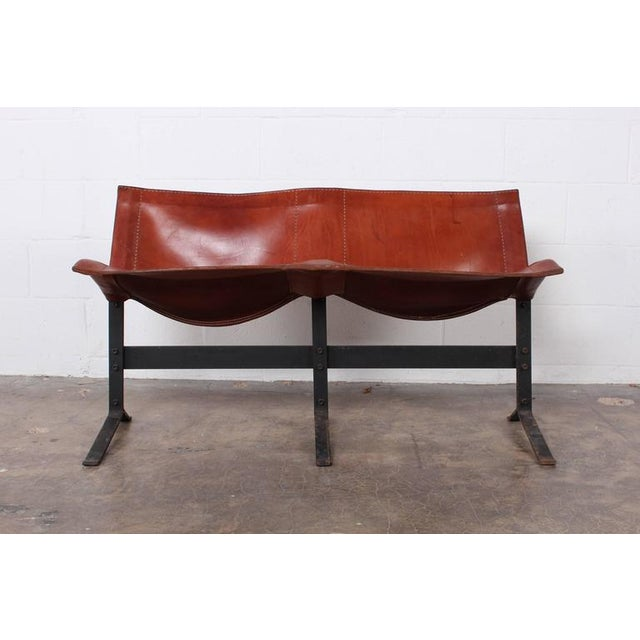 Modern Leather Bench by Max Gottschalk For Sale - Image 3 of 10