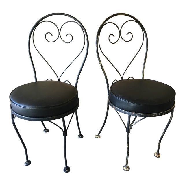 Mid-Century Bistro Chairs - a Pair - Image 1 of 3