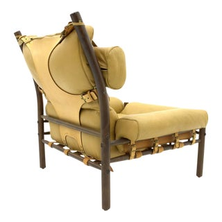 "Arne Norell Lounge Chair ""Inca,"" Leather, Sweden, 1965 For Sale"
