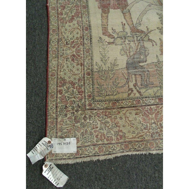 Late 19th Century Antique Handmade Pictorial Rugs - a Pair For Sale - Image 12 of 13