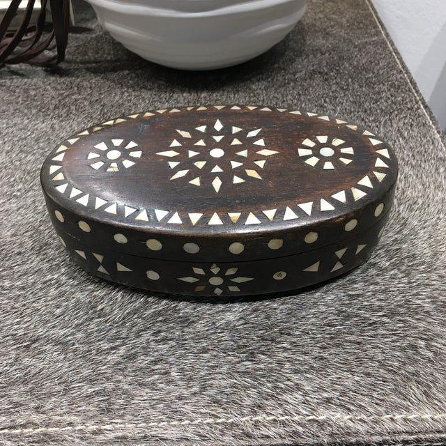 Vintage Moroccan Oval Box - Image 8 of 11