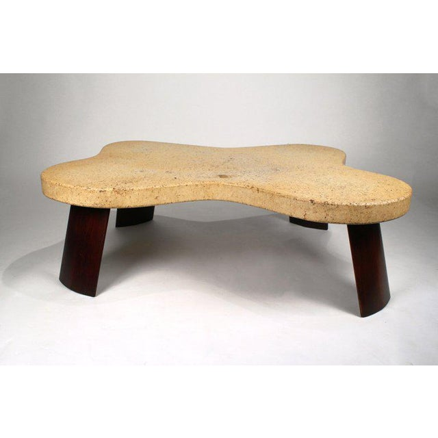 Cork Paul Frankl Cork Top Amoeba Coffee Table for Johnson Furniture For Sale - Image 7 of 10