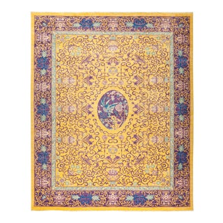 One-Of-A-Kind Patterned & Floral Handmade Area Rug - 8 X 10 For Sale