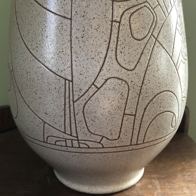 Lapid Israel Etched and Signed Vase For Sale - Image 4 of 6