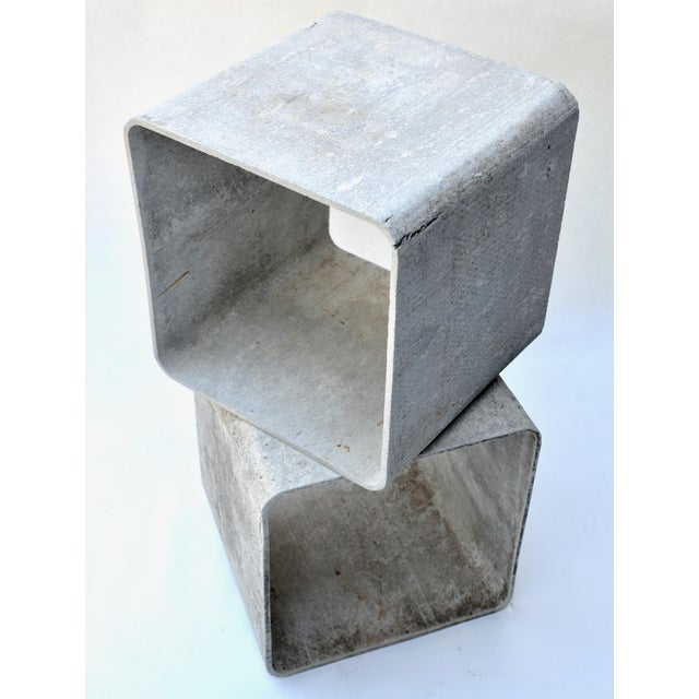 1960s Authentic Willy Guhl Modular Square Cube Tables For Sale - Image 5 of 7