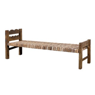 Vintage Mid Century Brazilian Wooden Bench or Daybed For Sale