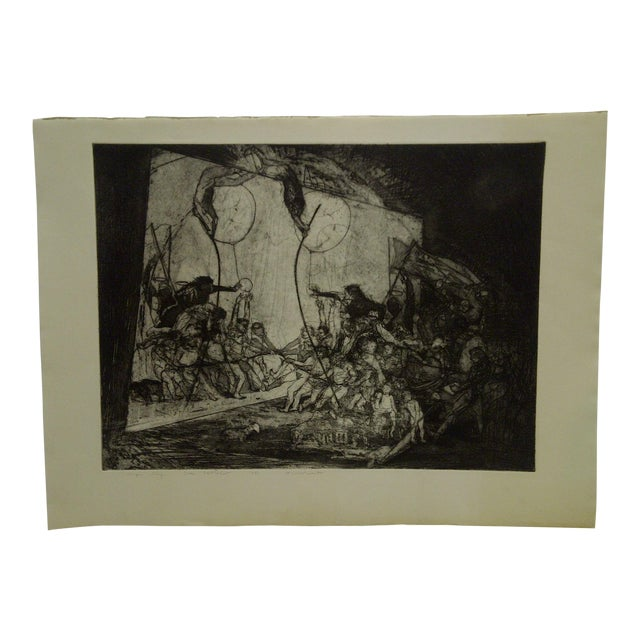 "Mid 20th Century Vintage ""Divertimenti"" Print by Ivan Valtchew For Sale"