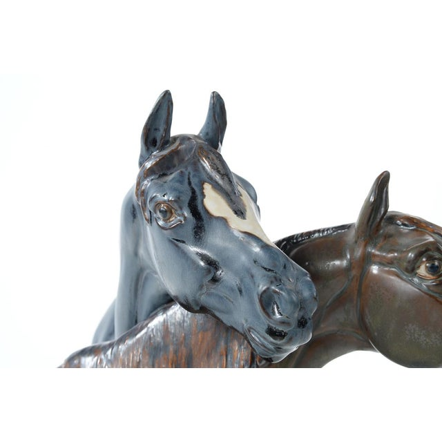 "Jose Roig Porcelain ""Horse Heads"" - Image 4 of 9"