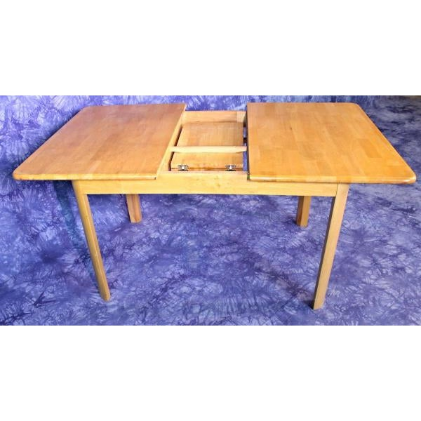Wood Mid-Century Modern Wooden Dining Kitchen Table For Sale - Image 7 of 10