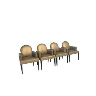 Designer's Special Set of 4 Mid Century Hollywood Regency Style Dining/Side Chairs For Sale