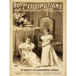 """""""Royal Lilliputians"""" Reproduction 1800s Vaudeville Poster Print"""