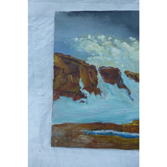 MCM Ocean Waves Painting by H.L. Musgrave - Image 3 of 7