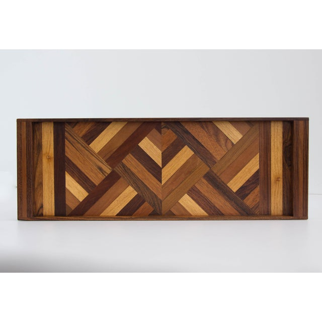 Don Shoemaker Don Shoemaker Rosewood Inlay Tray For Sale - Image 4 of 7