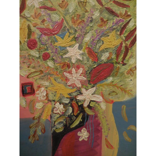 Vintage Oil Painting - Cubist Floral - Image 6 of 11