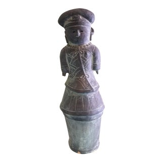 South American Ethnic Tribal Woman Statue