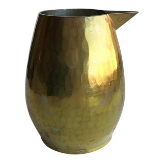 Sfera Hammered Brass Pitcher For Sale