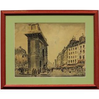 Paris I Watercolor Painting For Sale