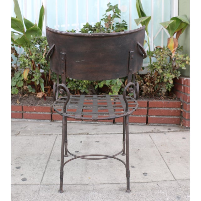 Italian Wrought Iron Dining Set For Sale - Image 10 of 11