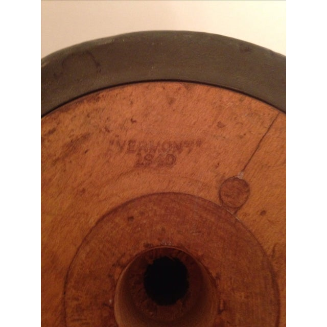 Vintage Vermont 1940 Industrial Wooden Spool - Image 6 of 6