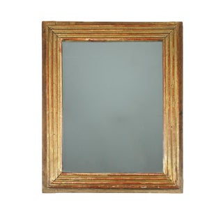 1830s French A Fluted Giltwood Mirror For Sale