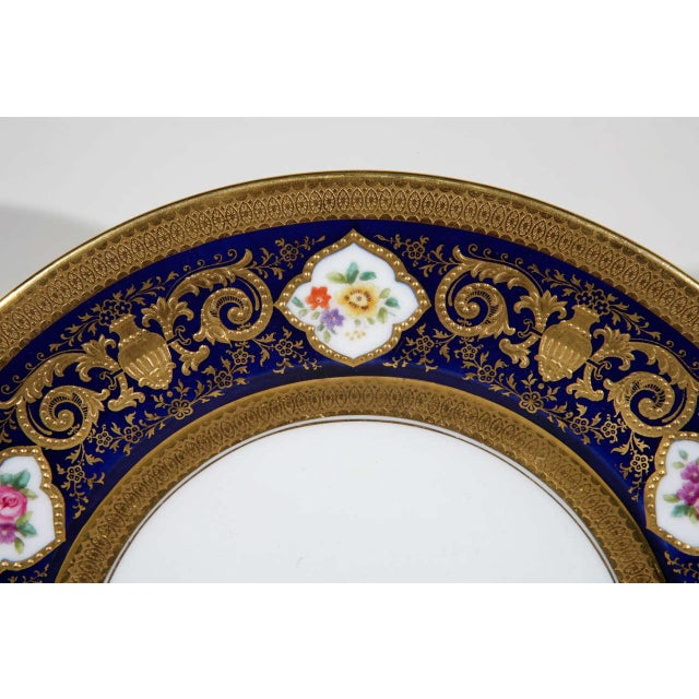 English Cauldon English Plates Retail by Cowell and Hubbard Company Set of 12 For Sale - Image 3 of 9