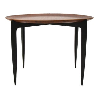 Willumsen & Engholm Collapsable Tray Top Table by Frtiz Hansen For Sale