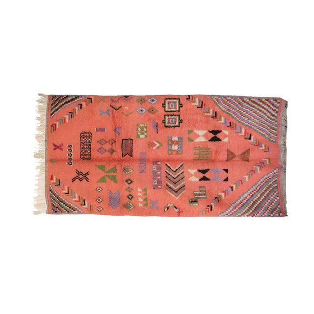 "Boujad Vintage Moroccan Rug, 3'11"" x 7'6"" feet - Image 2 of 6"