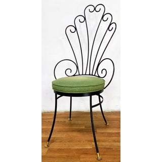 Mid Century Wrought Iron Peacock Chairs - Set of 5 Preview
