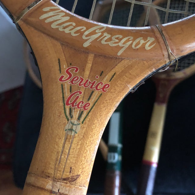 Collection of Antique Tennis Rackets - Set of 4 For Sale In Atlanta - Image 6 of 9