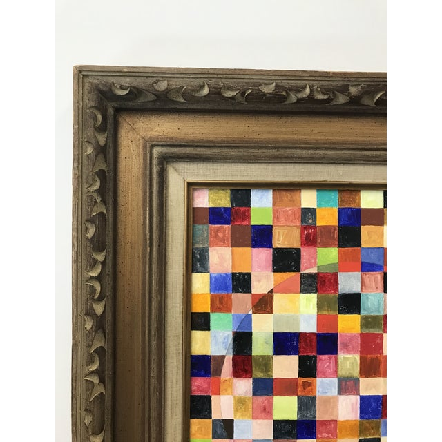 Contemporary Abstract Framed Painting For Sale - Image 4 of 7