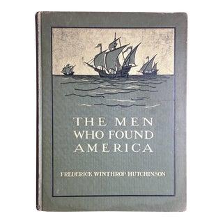 1909 Antique the Men Who Found America Children's Book For Sale
