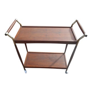 Vintage Mid-Century Danish Modern Tea Cart For Sale