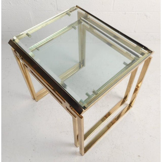 Mid-Century Modern Stacking Tables in the Style of Guy Lefevre - Image 9 of 9