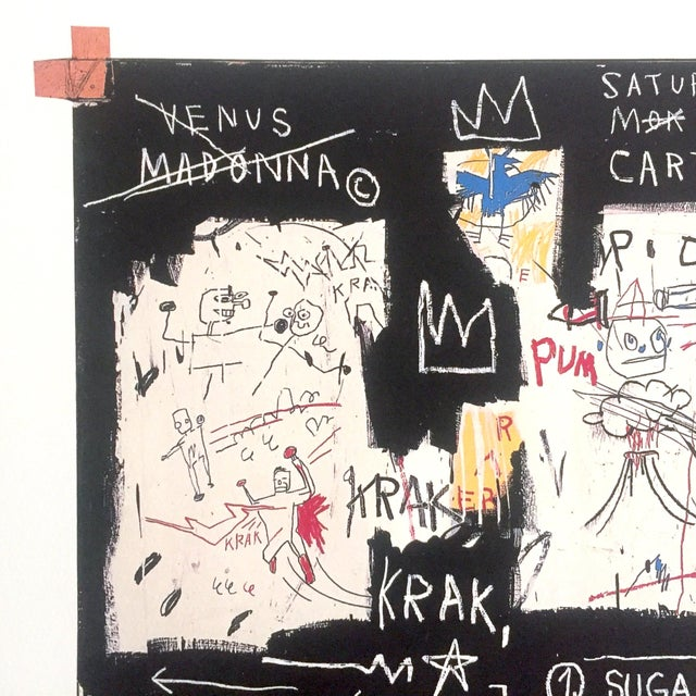 "Abstract Jean Michel Basquiat Original Pop Art Lithograph Print ""Panel of Experts"", 1982 For Sale - Image 3 of 11"