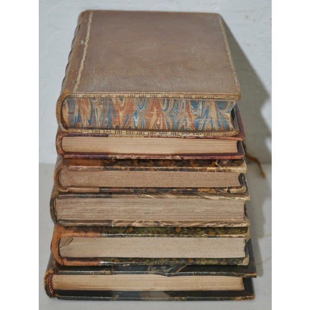 Antique Leather Bound Books - Set of 6 - Image 5 of 7