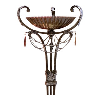 "Fine Art Lamps ""Brazilian"" Neoclassical Torchiere Floor Lamp For Sale"