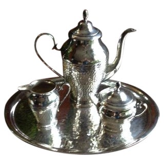 Gustav Eriksson Silverplate 4-Piece Tea Set