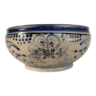 Vintage Moroccan Decorative Bowl For Sale