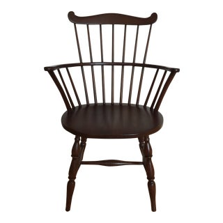Modern Comb Back Arm Chair For Sale