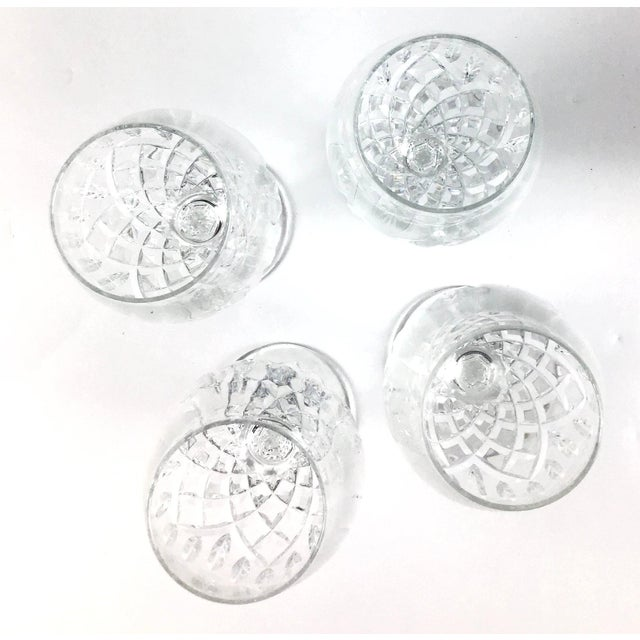 Cut Crystal Heavy Water Glasses - Set of 4 For Sale - Image 4 of 10