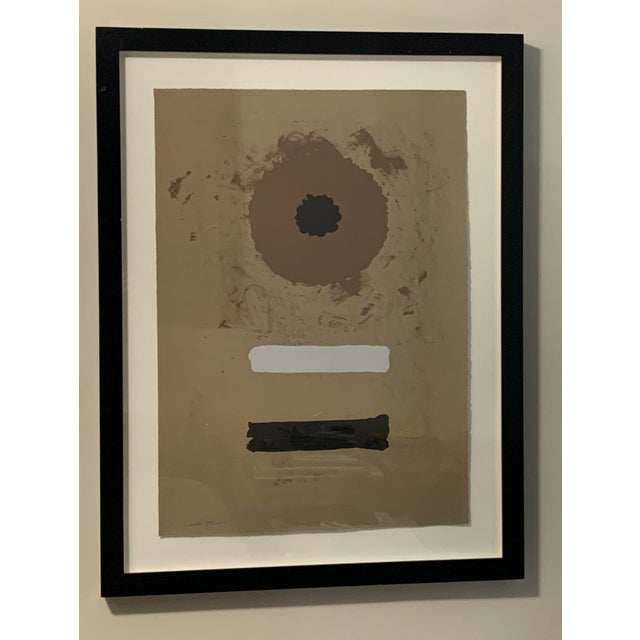 Black 1969 Abstract Expressionist Pencil Signed Adolph Gottlieb Lithograph For Sale - Image 8 of 8