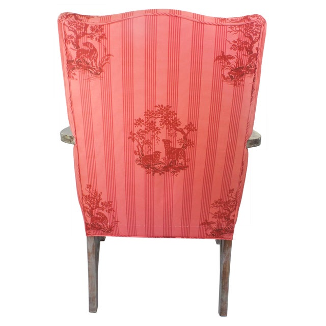 Federal Lolling Style Pink Chairs - A Pair - Image 4 of 5