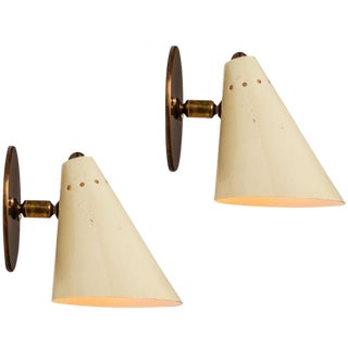 1950s Italian Cone Sconces - a Pair For Sale