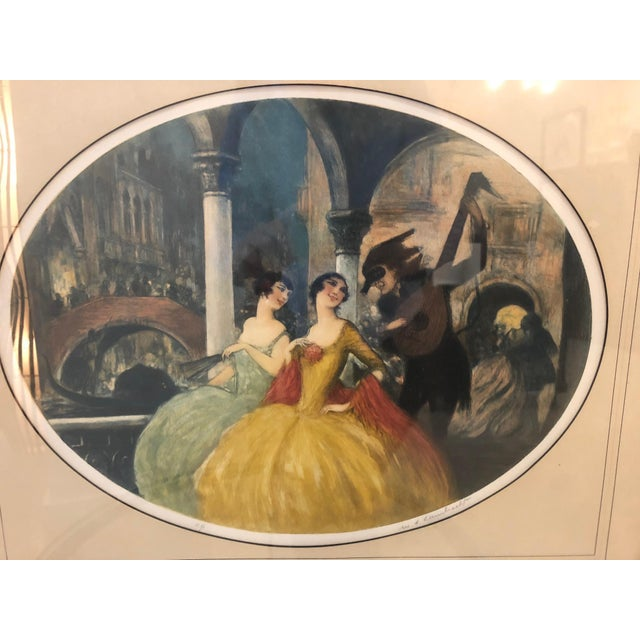 """Art Deco """"Venice Carnival"""" Aquatint by William Lambrecht For Sale - Image 3 of 7"""