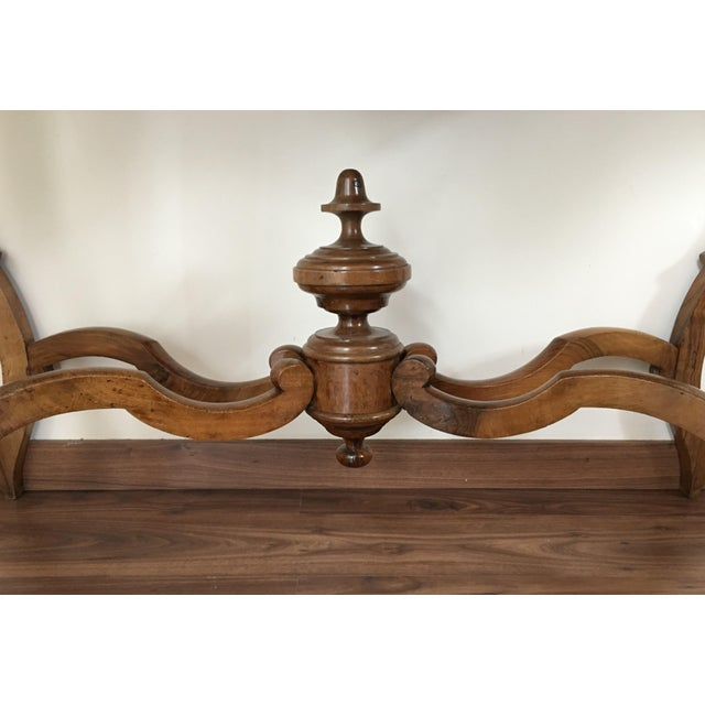 19th century marble top walnut console table chairish for Table th width ignored