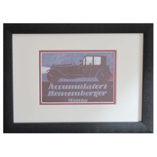 Framed Vintage Italian Automobile Advertisement