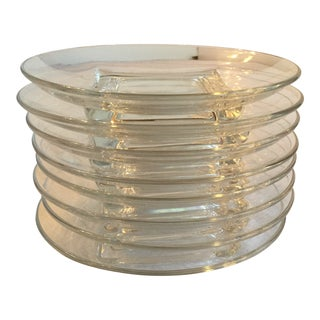 Mid Century Modern Glass Small Plates - Set of 8 For Sale